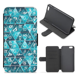 Shadowhunters Runes Mosaic Flip Wallet Phone Case - Fun Cases