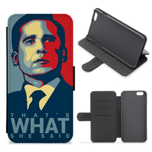 That's What She Said - The Office Flip / Wallet Phone Case - Fun Cases