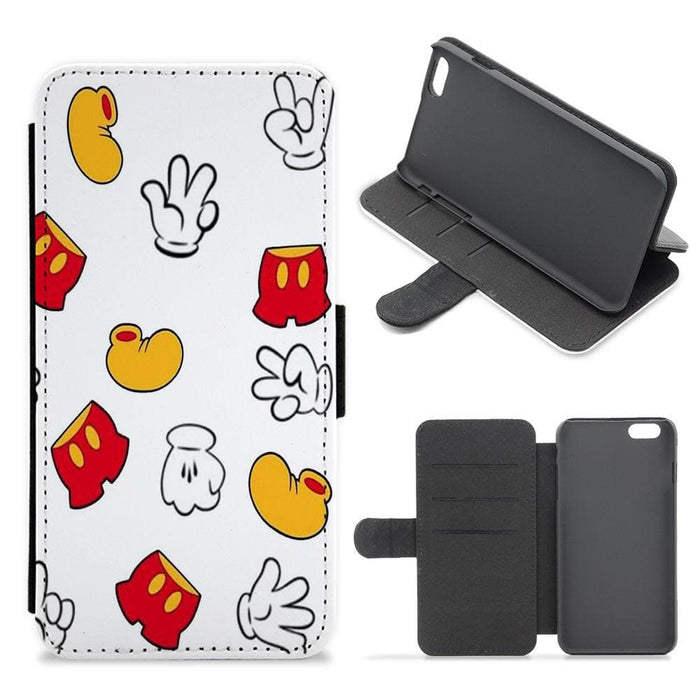 Mickey Mouse Gloves, Shorts and Shoes - Disney Flip / Wallet Phone Case - Fun Cases