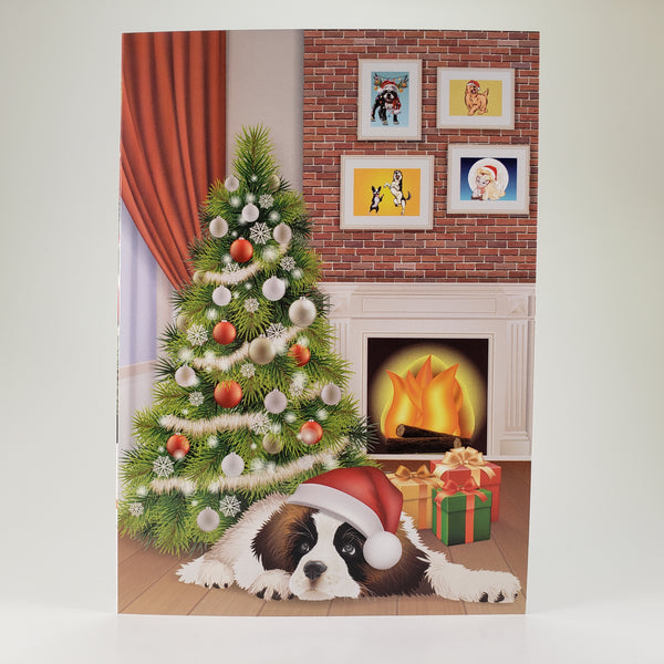 Saint Bernard Christmas Tree