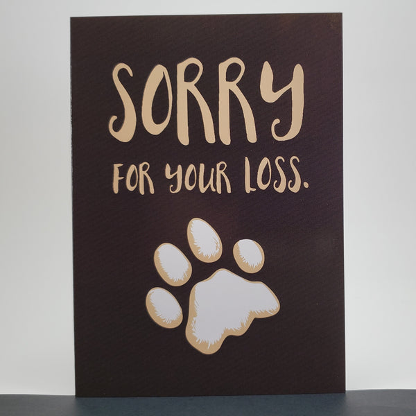 Sorry for your loss canine sympathy card