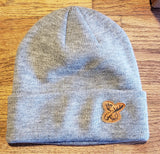 Leather Moose Patch Beanie