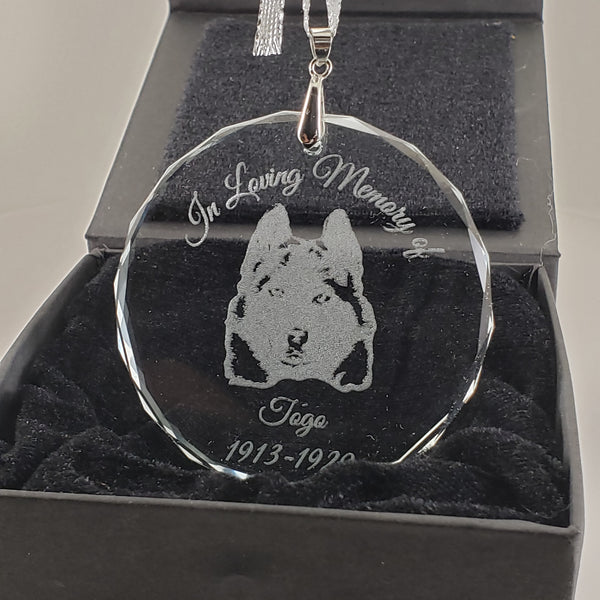 Husky Keepsake Ornament for Loss of Pet