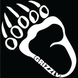 "4"" x 4"" Grizzly Track Sticker"