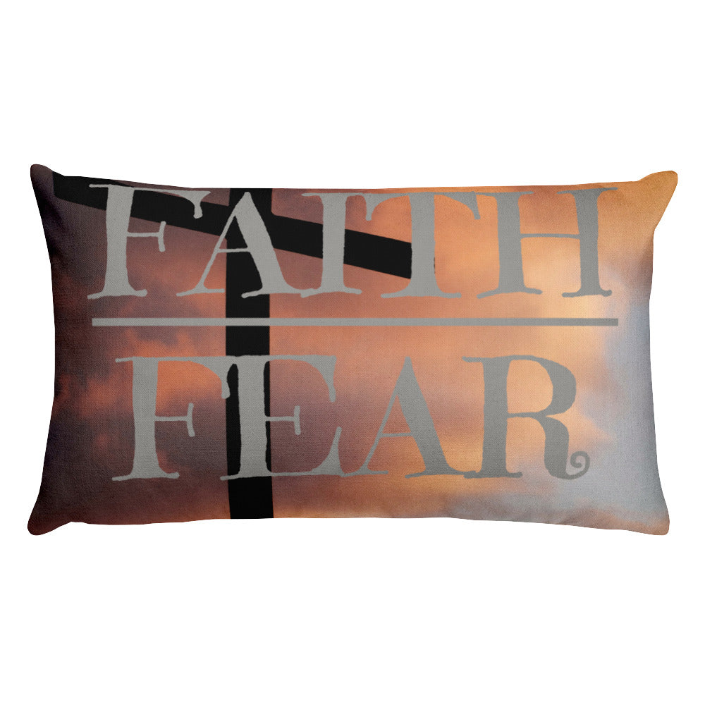 Faith over Fear Premium Pillow