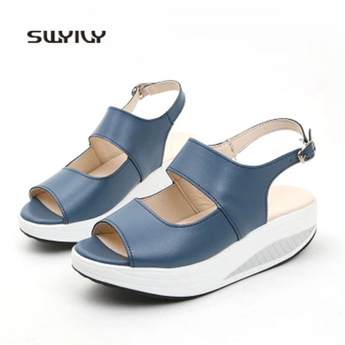 SWYIVY Women Wedge Sandals