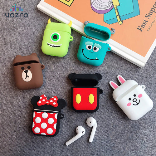 VOZRO Cartoon Wireless Bluetooth Earphone Case For Apple AirPods