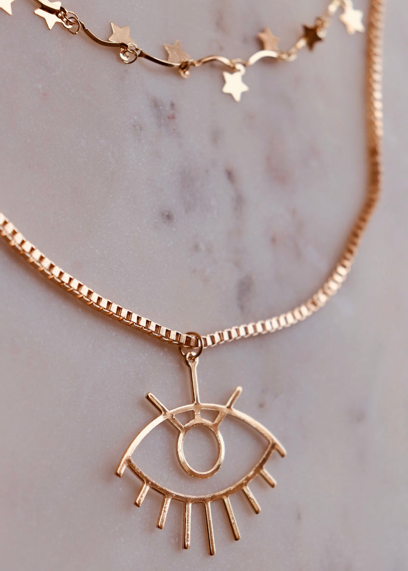 Eye Double Necklace