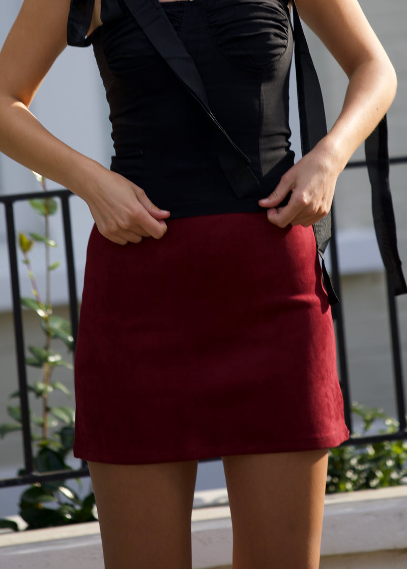 Jordie Suedette Mini-Skirt
