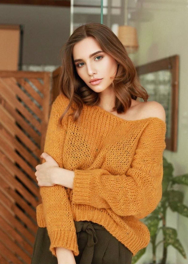 Mustard Oversized Jumper