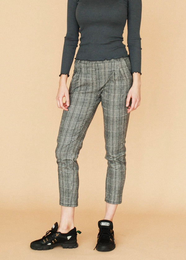 Oxford Grey Plaid Trousers