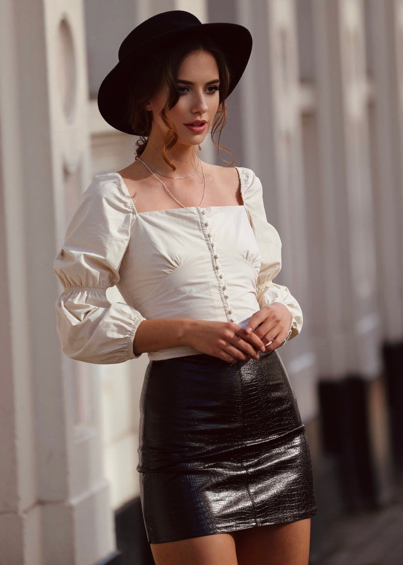 Mia Vegan Leather Skirt