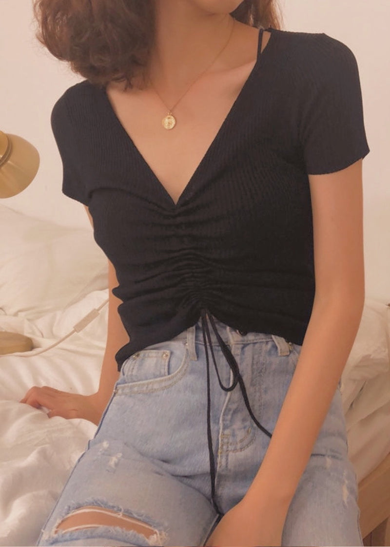 Corfu Top in Black