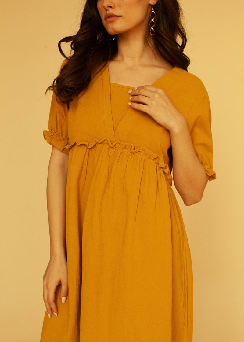 Sienna Mini Dress Mustard