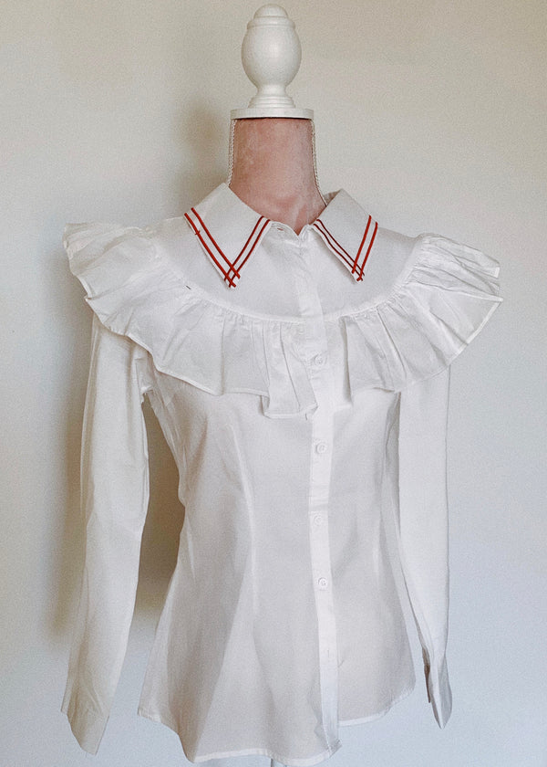 Pierrot Long Sleeve White Shirt