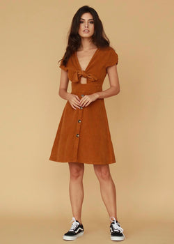 Bianca Rust Corduroy Dress