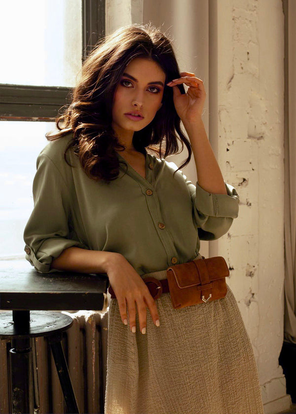 Berta Shirt in Olive