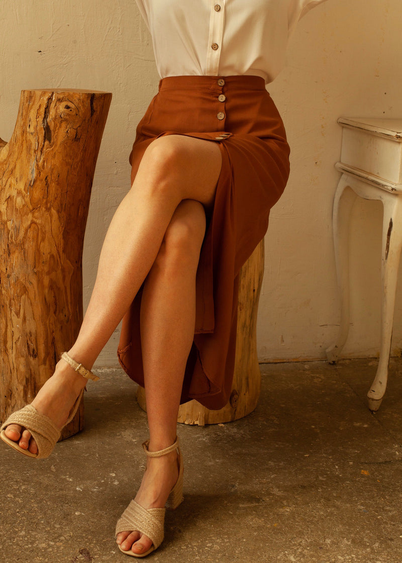 Berta Skirt in Brown