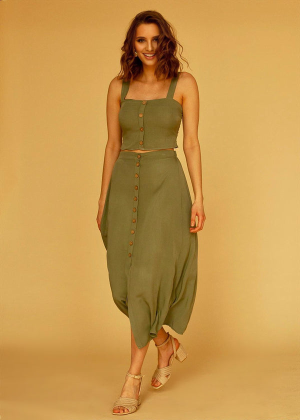 Berta Skirt in Olive