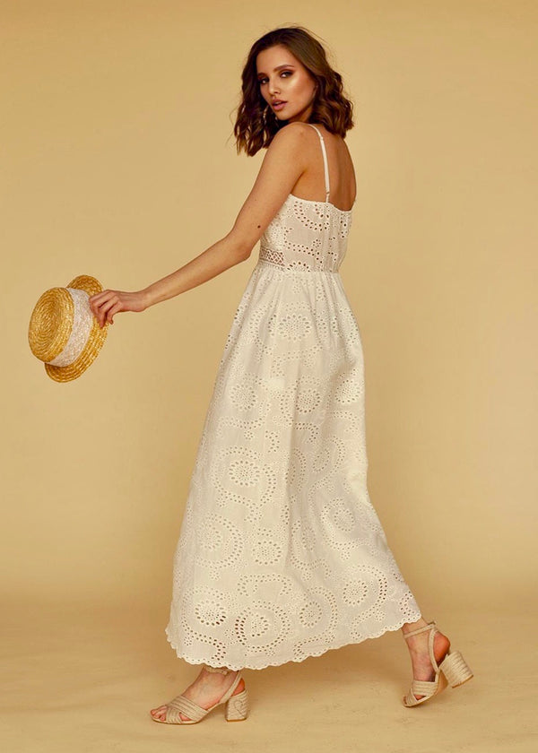 Vivienne Lace Embroidered Maxi Dress