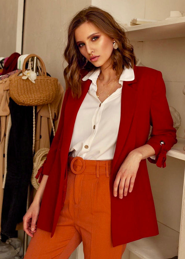 Trouble Maker Blazer in Burnt Orange