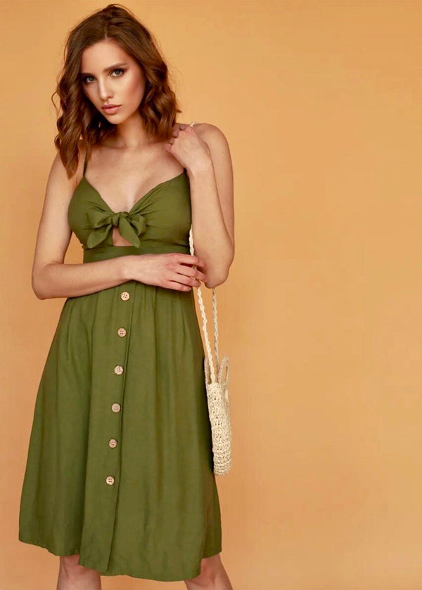 Sunday Dress in Olive