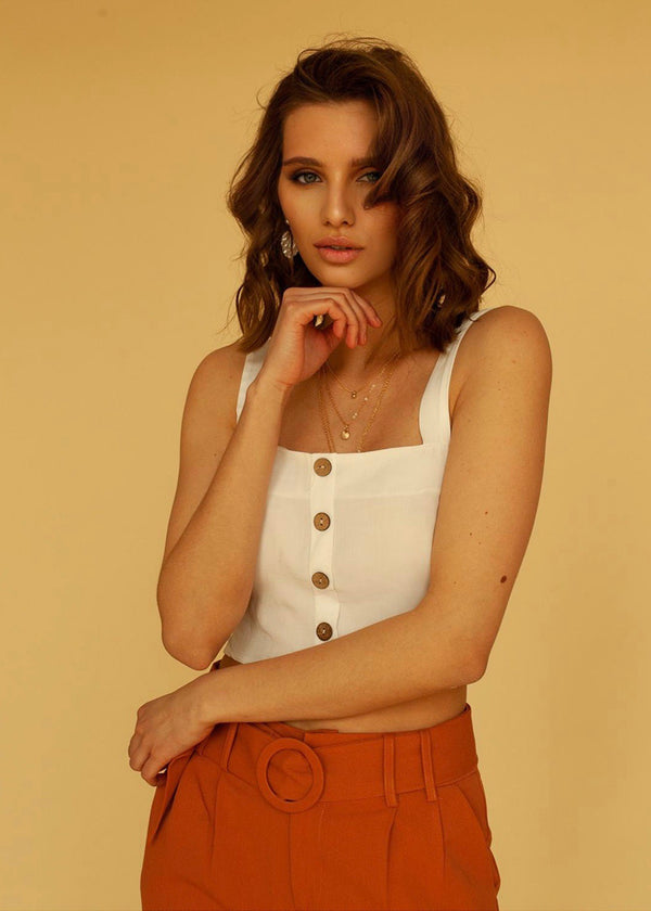 Berta Crop-Top in White