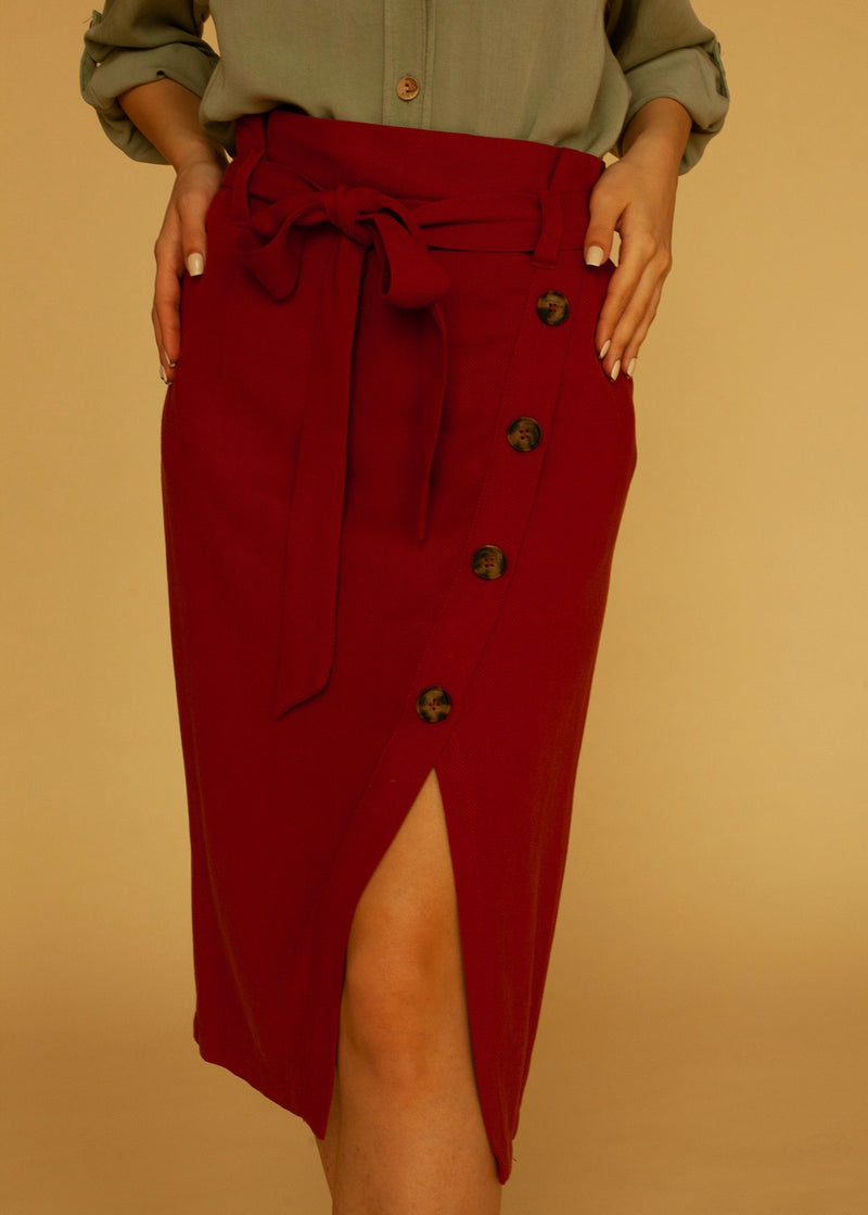 Trouble Maker Skirt in Burnt Orange