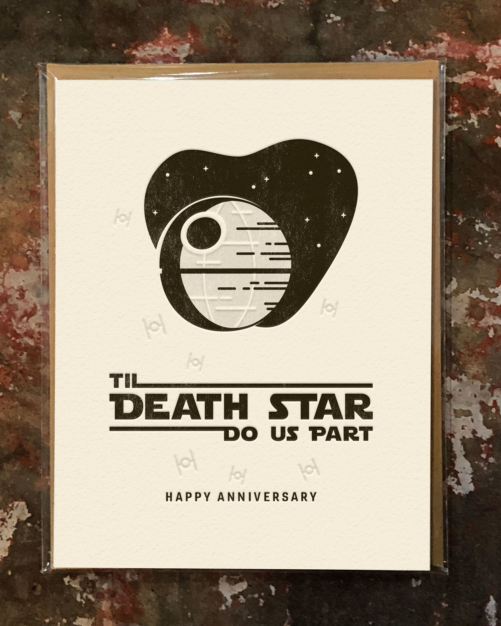 Til Death Star Do Us Part Greeting Card