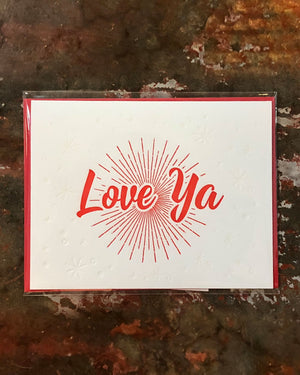 Love Ya Greeting Card