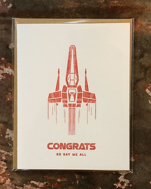 Congrats Battlestar Greeting Card