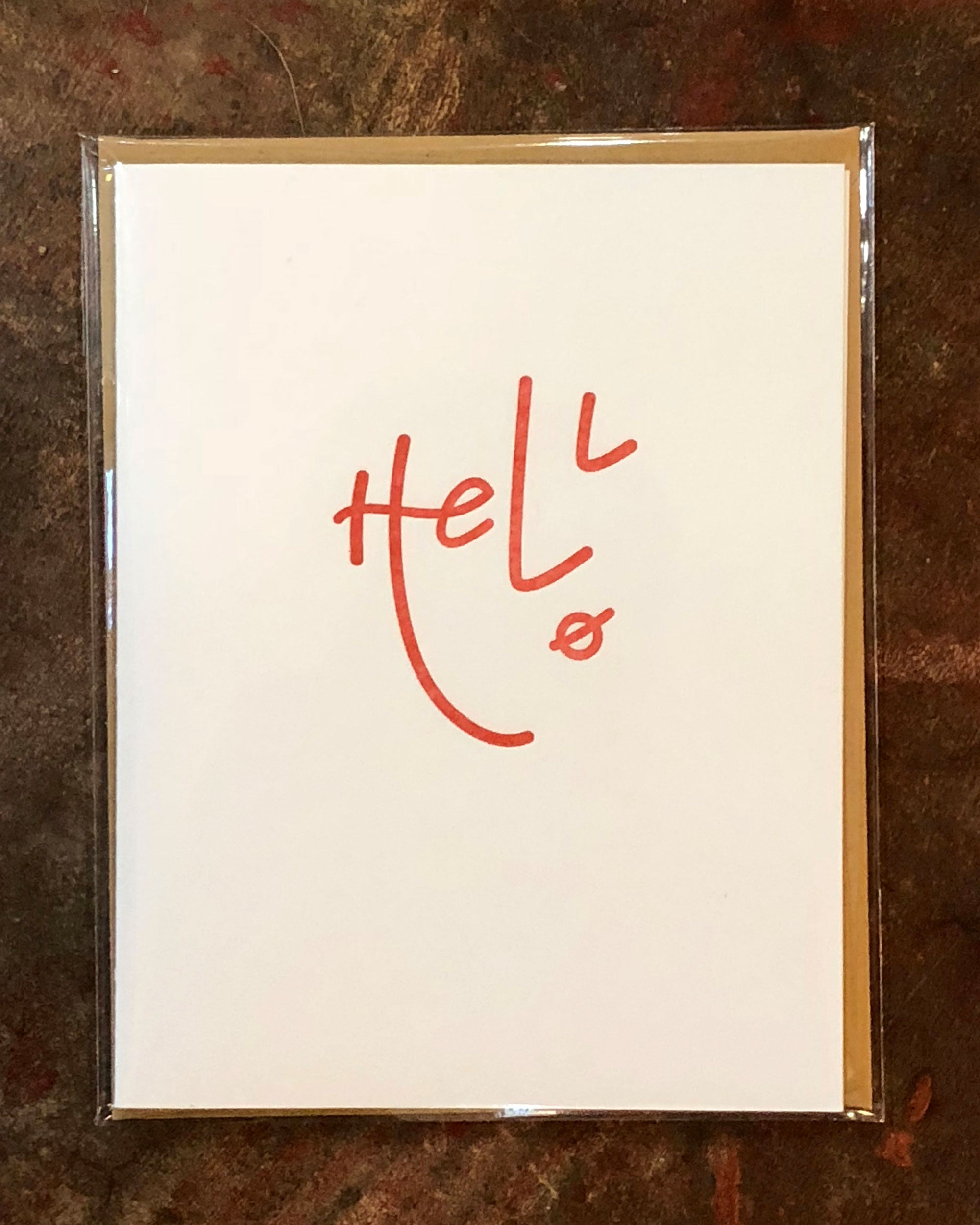 Hello Face Greeting Card