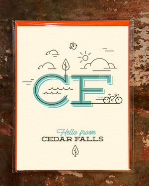 Hello from Cedar Falls Greeting Card