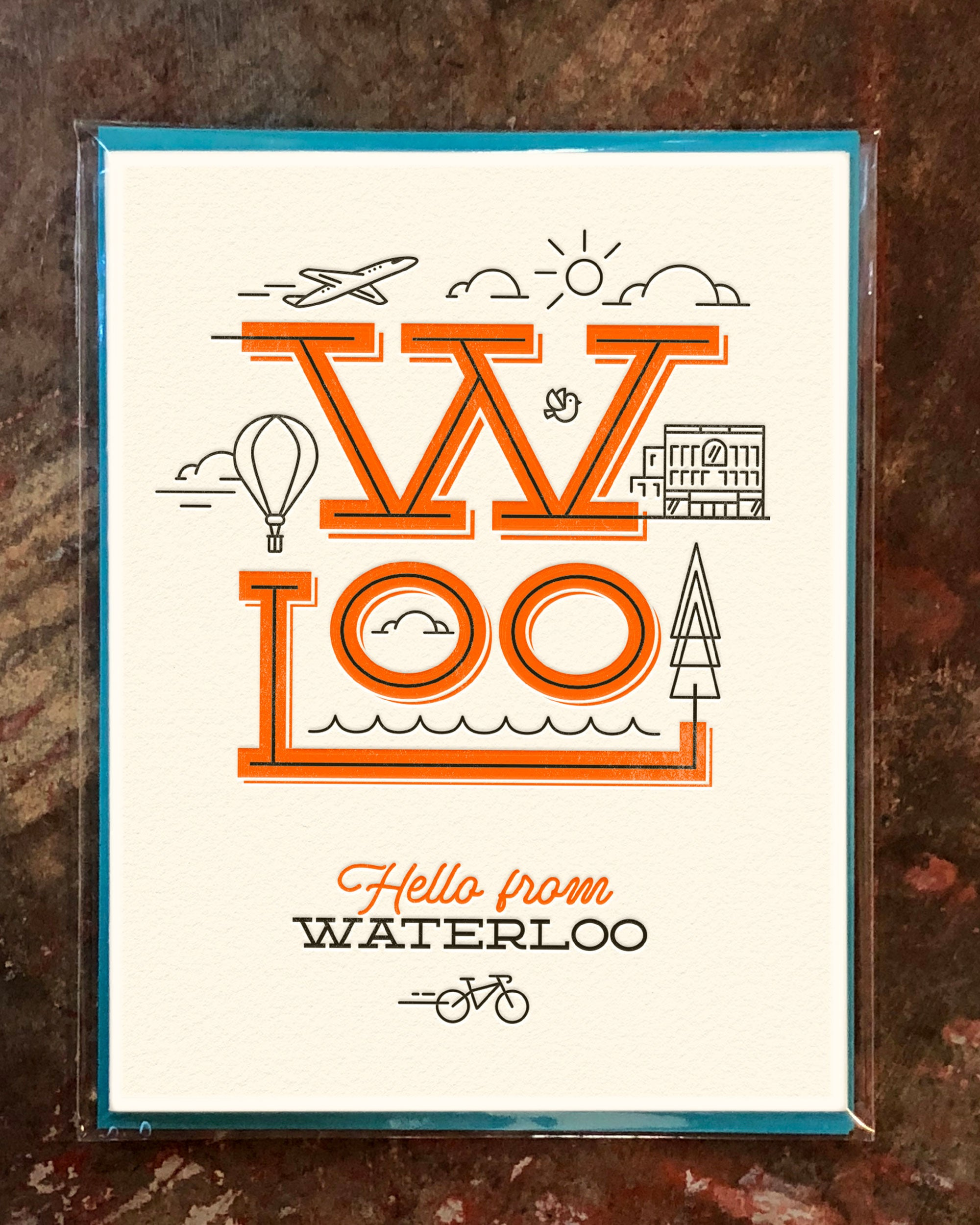 Hello from Waterloo Greeting Card