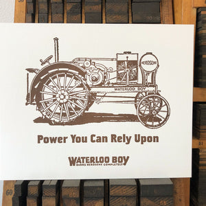 Waterloo Boy Tractor Print