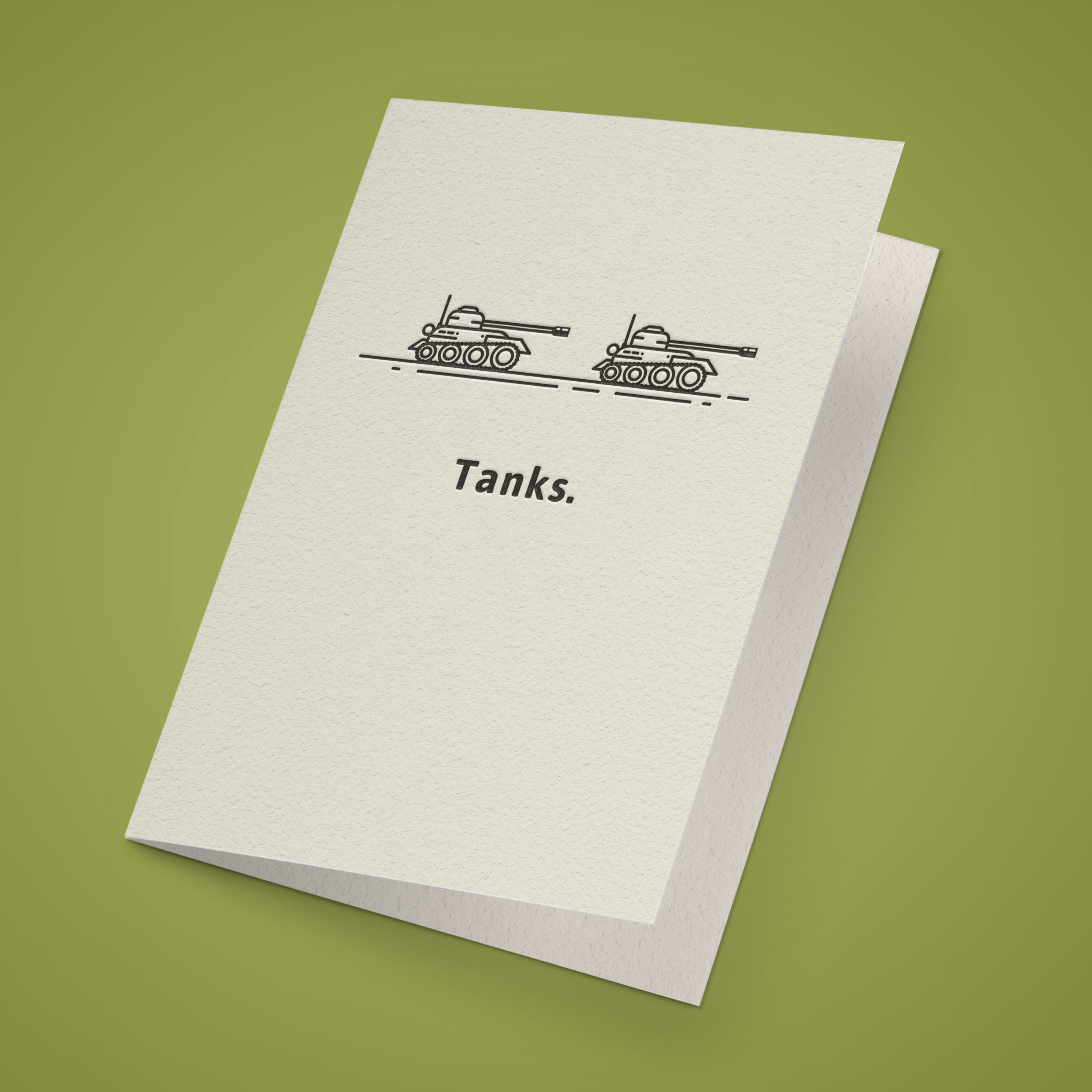 Tanks. Greeting Card