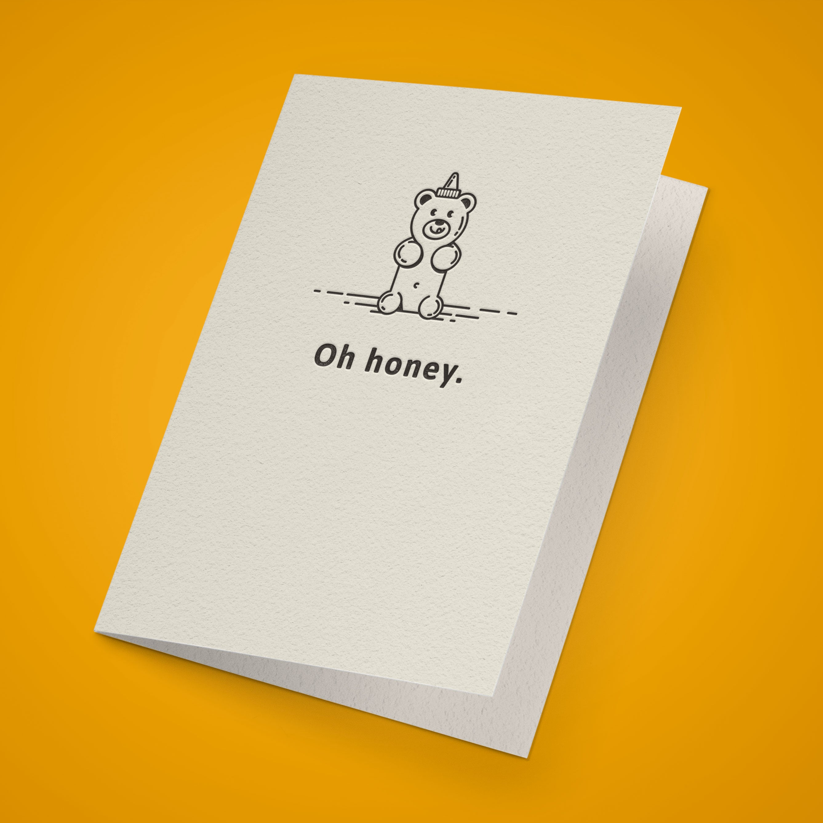 Oh Honey. Greeting Card