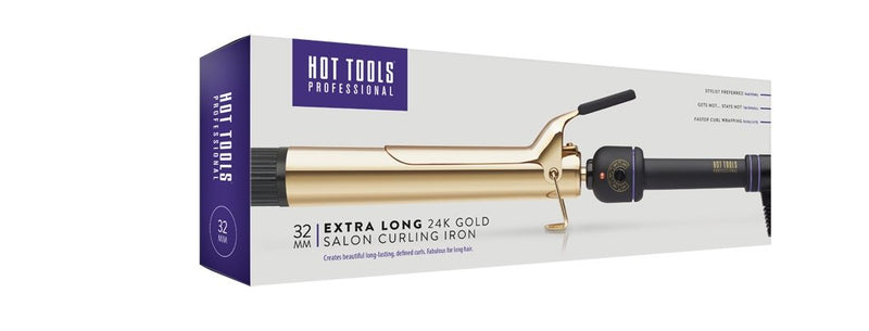 Hot Tools 24k Gold Curling Iron 32mm XL - Hot Tools Australia