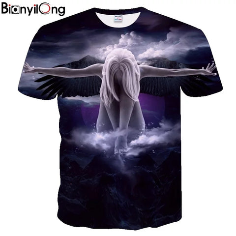 844940b1 BIANYILONG Big yards men t shirt New 2019 Fashion Brand T-shirt Men/Women