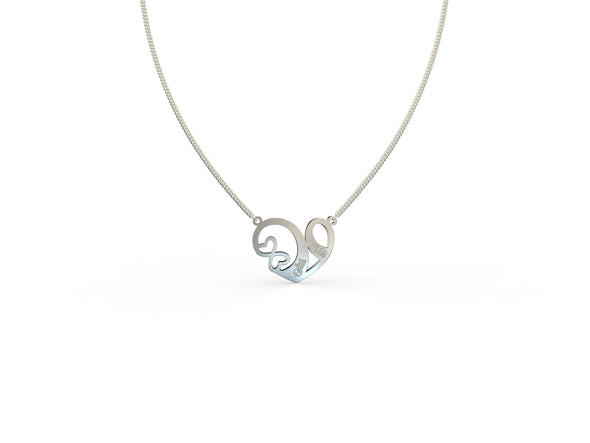 Jane My Heart is Yours Engravable Necklace