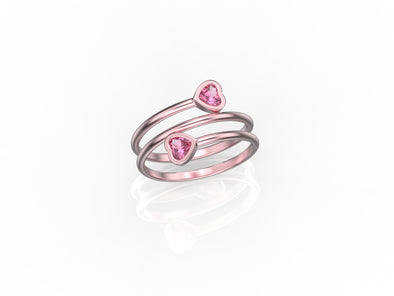 Melanie Rose Pink Plated Love Ring