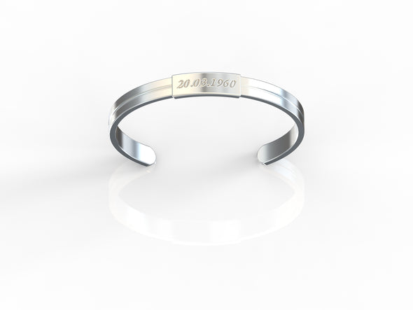 William Save the Date Engravable Men's Bracelet
