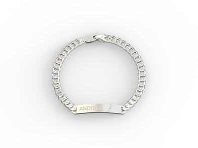 Donnatella Engravaable Name Plate Bracelet
