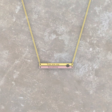 Lexi Between the Lines Bar Necklace