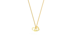 Evelyn Interlocked Heart Necklace