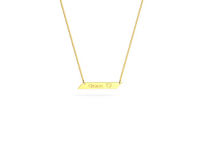 Grace Angled Bar Necklace