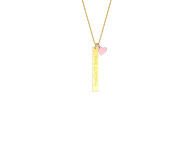 Harper Bar and Heart Necklace