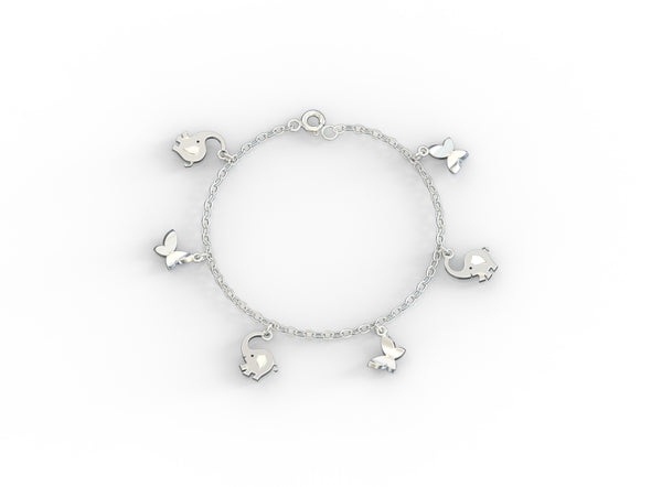 Bruno's Wildlife Party Charms Bracelet