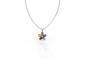 Colored Petal Irene Pendant