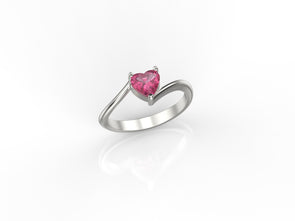 Mila Heart Ring (Pink Stone)